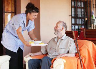 Häusliche Pflege durch einen ambulanten Pflegedienst