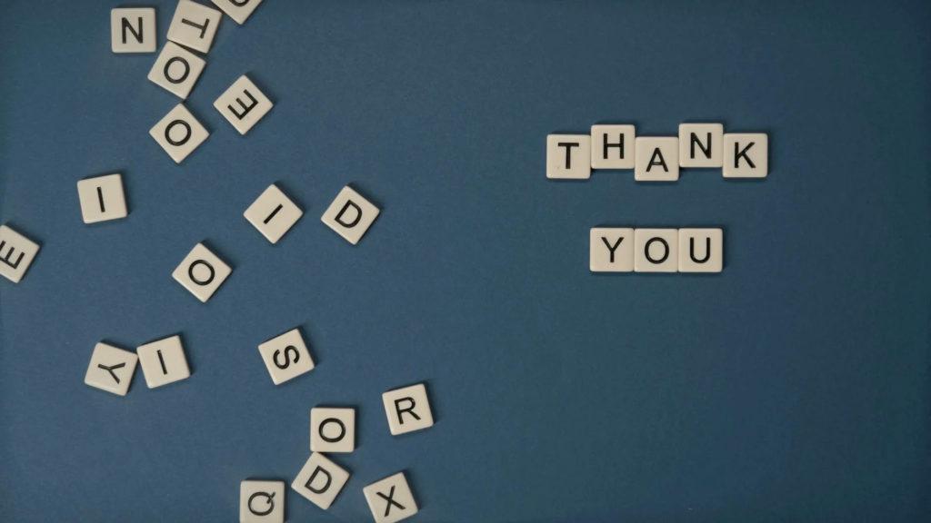 Dankbarkeit macht zwei Seiten glücklich